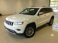 2014 Jeep Grand Cherokee LIMITED BLANC 4X4 TOIT CUIR NOIR SELECT