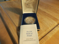 coin,$50.00 silver proof.Battle of Britain coin.