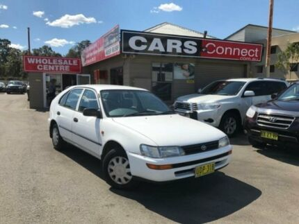 1996 Toyota Corolla AE101R CSi Seca White 5 Speed Manual Liftback