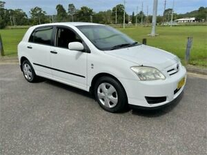 2006 Toyota Corolla ZZE122R Ascent Seca White 5 Speed Manual Hatchback West Gosford Gosford Area Preview