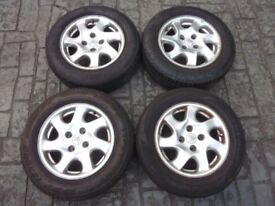 4 x Alloy Wheels and Tyres 195/65 R15 91H GL695 were on Citroen Belingo see hubs