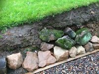 Soil and Sandstone boulders and rubble, suitable for infill/backfill, possibly building walls.