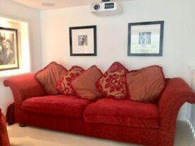 Well looked after two sofas, Originally DFS - read fabric
