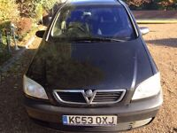 53 REG VAUXHALL ZAFIRA 7 SEATER EXCELLENT CONDITION RELIABLE AND IMMACULATE NO FAULTS MOT TILL JUNE