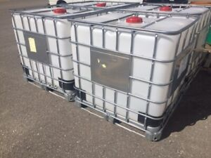 "1,000 L Plastic Totes 48""x 40""x 46"", for sale."