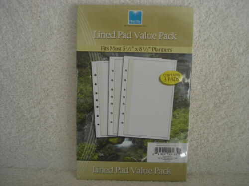 Organizer Refill BlueSky 4 Seasons Lined Pads NEW 3 Pack
