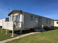 8 berth prestige static caravan with decking at Havens Presthaven site, Prestatyn