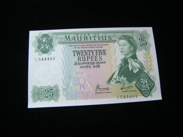 Mauritius 1967 25 Rupees Banknote Gem Unc. Pick#32b