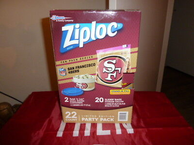 49ERS ZIPLOC LIMITED EDITION PARTY PACK  - 49ers Party