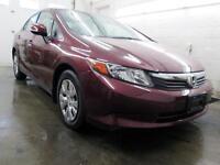 2012 Honda Civic LX SEULEMENT 38,000KM AUTO A/C CRUISE