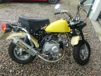 2004 Jincheng Easy Rider M50 Monkey bike, Road Registered, 46 miles only.