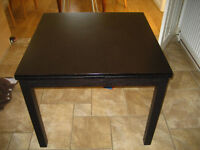 IKEA Bjursta Extendable Table (black)