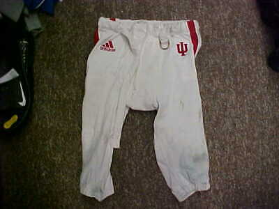 50ba47f449d NCAA Indiana Hoosiers Game Worn/Used Football Pants White/Crimson(Red) Size  L