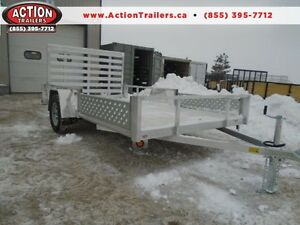 12' QUALITY STEEL ALL ALUMINUM UTILITY - ATV RAMPS INCLUDED!