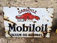 gargoyle mobiloil enamel sign (OFFERS)