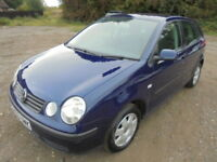 Volkswagen Polo 1.4 TDI SE PD 75PS, DIESEL, LOW CC, SERVICE HISTORY. (blue) 2003