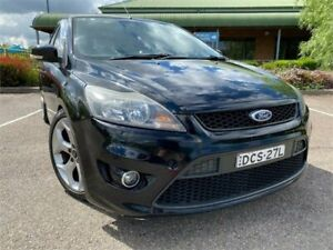 2010 Ford Focus LV XR5 Turbo Black 6 Speed Manual Hatchback Mount Druitt Blacktown Area Preview