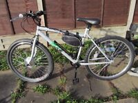 Ebike Halford Ridge Mountain bike Converted to electric pedelec and throttle electric bike