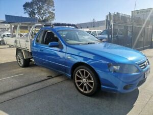 2004 Ford Falcon BA MkII XLS Blue 4 Speed Auto Seq Sportshift Cab Chassis Lidcombe Auburn Area Preview