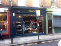 Crouch End N8. Shop to Rent 350 sq ft. £18,500 p.a. New Lease no Premium