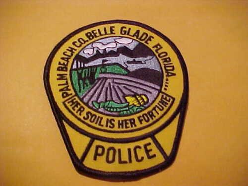 BELLE GLADE FLORIDA POLICE PATCH SHOULDER SIZE UNUSED