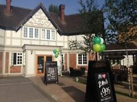Bar and restaurant staff required for busy high street pub in Eastcote