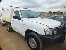 2011 Nissan Patrol GU MY08 DX (4x4) White 5 Speed Manual Cab Chassis Bohle Townsville City Preview