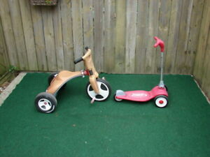 Radio flyer tricycle and boy Tricycle