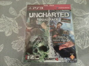 BRAND NEW PLAYSTATION PS3 UNCHARTED DUAL PACK