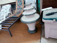 Beautiful in door or out door water fountain 34 inch high3 level