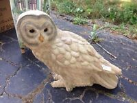 Beautiful Solid Owl Statue - Garden Piece or In Home
