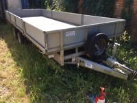 Flat Bed Trailer with ramps and sides 18' long will easily carry LWB van