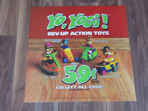 Yogi Bear McDonald's Toy Display Sign