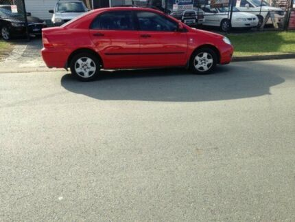 2006 Toyota Corolla ZZE122R Ascent Red 5 Speed Manual Sedan Caboolture Caboolture Area Preview