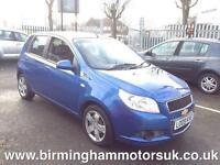 2009 (59 Reg) Chevrolet Aveo 1.2 LS 5DR Hatchback BLUE