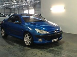 2002 Peugeot 206 CC Blue 5 Speed Manual Cabriolet Beresfield Newcastle Area Preview