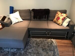 Ikea Couch - Corner Sofa Bed with Storage