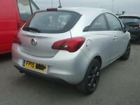 VAUXHALL CORSA E REAR BUMPER IN SILVER USED 2015 2016 2017 RING FOR MORE INFO