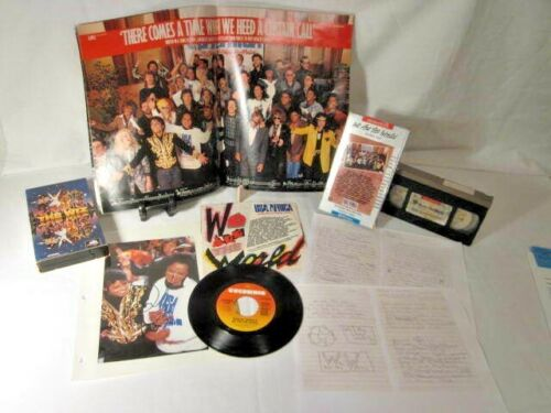 We Are The World / USA For Africa Michael Jackson autograph collector