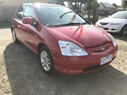 2002 Honda Civic 7TH GEN VI Red 4 Speed Automatic Hatchback South Geelong Geelong City Preview