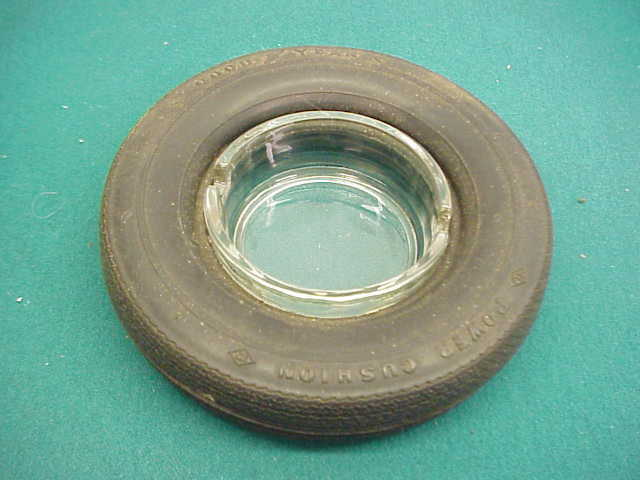 Goodyear old  rubber glass ash tray tire