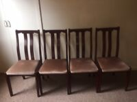 4 wooden chairs