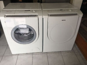 """Very clean Bosch white 27 """" frontload washer & electric dryer"""