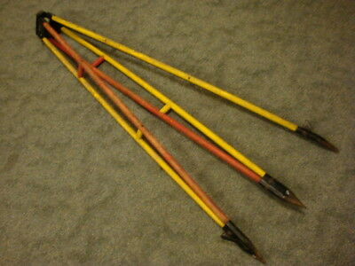 Vintage Keuffel & Esser USA Wood TRIPOD Survey Surveying Equipment