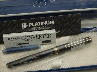 "Japanese FP PLATINUM ""Standard"" Black 14K Extra Fine-nib with Converter"