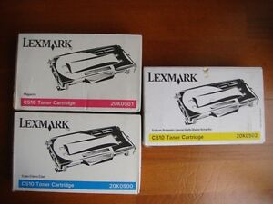 Colour toners for Lexmark C510 printers C510, C510n & C510dtn