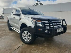 2013 Ford Ranger PX XLS Double Cab Silver 6 Speed Manual Utility Medindie Walkerville Area Preview