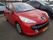 2007 Peugeot 207 A7 XR Red 5 Speed Manual Hatchback Campbelltown Campbelltown Area Preview