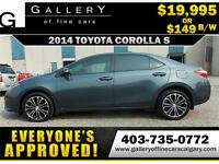 2014 Toyota Corolla S $149 Bi-WeeklyAPPLY NOW DRIVE NOW