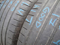 225/45/17 Goodyear Eagle F1 x2 A Pair, 4.7mm (168 High Road, Romford RM6 6LU) Used Tyres East London